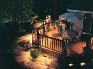 Out door deck lighting