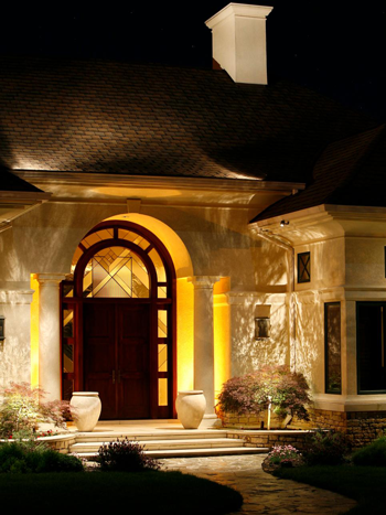 Entryway Landscape Lighting