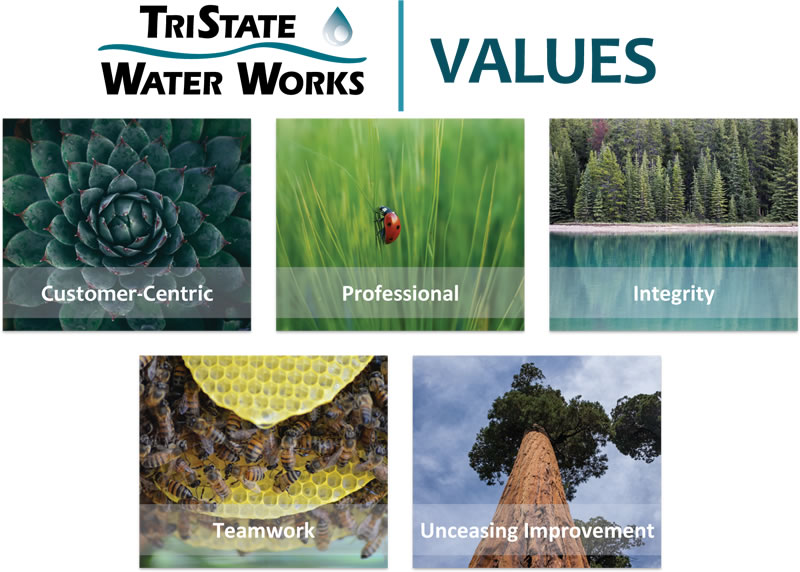 TriState Water Works Values